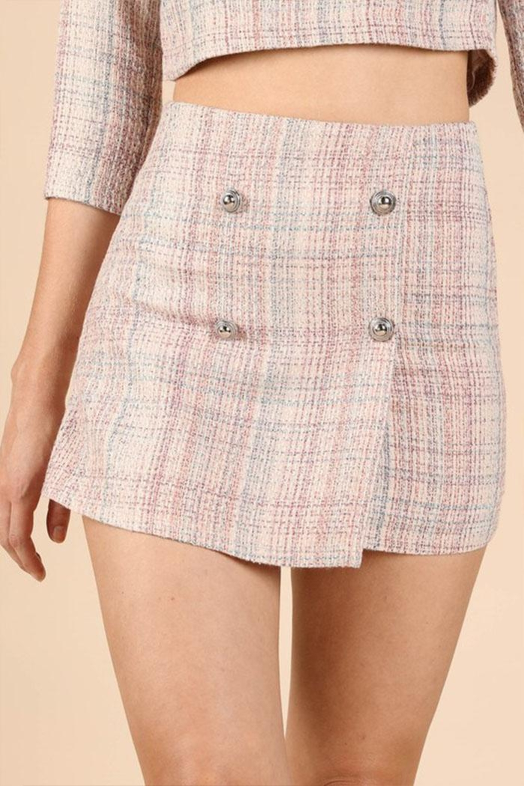 Wild Honey Tweed Mini Skirt - Main Image