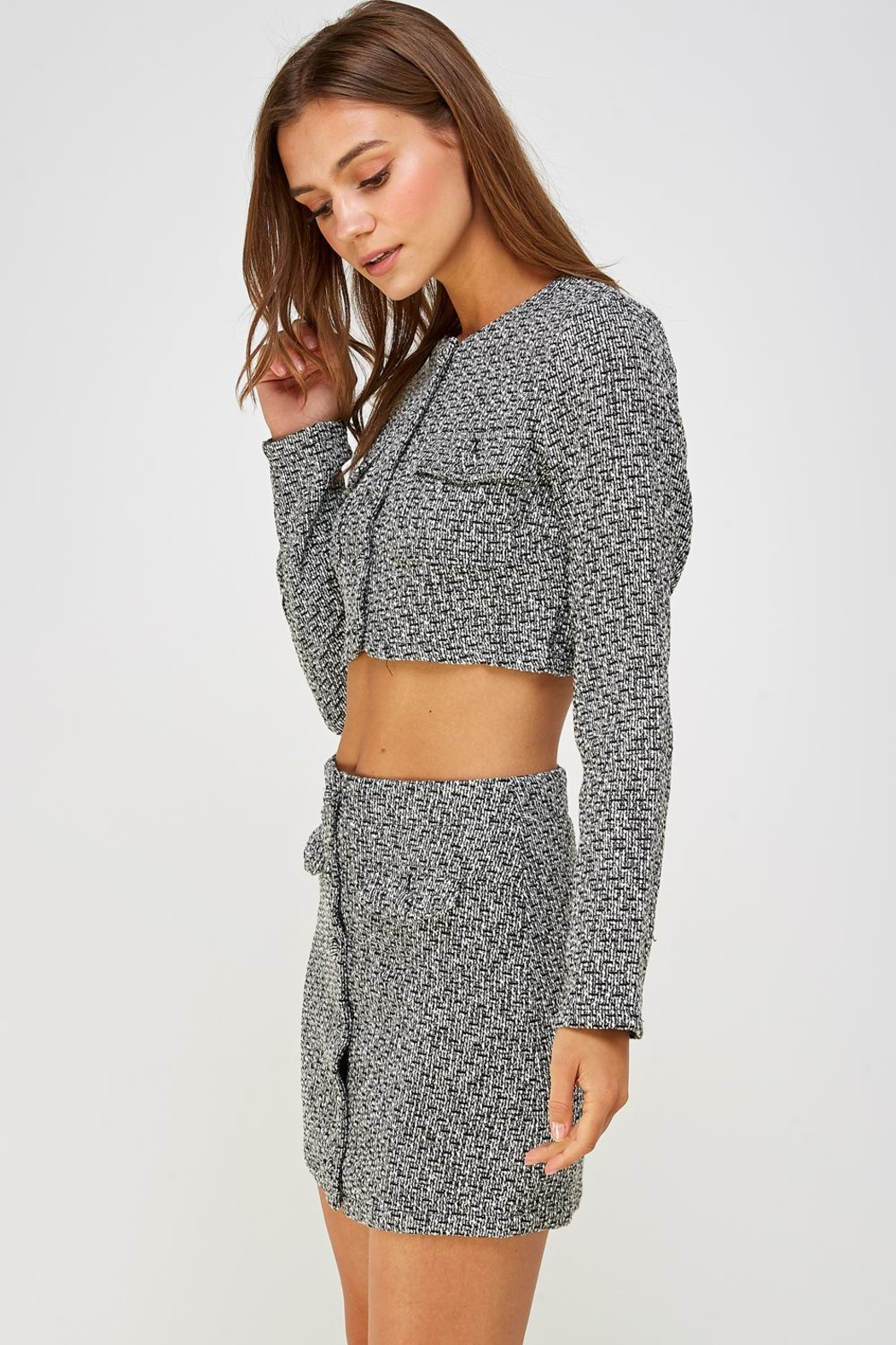 Wild Honey Tweed Skirt Set - Side Cropped Image