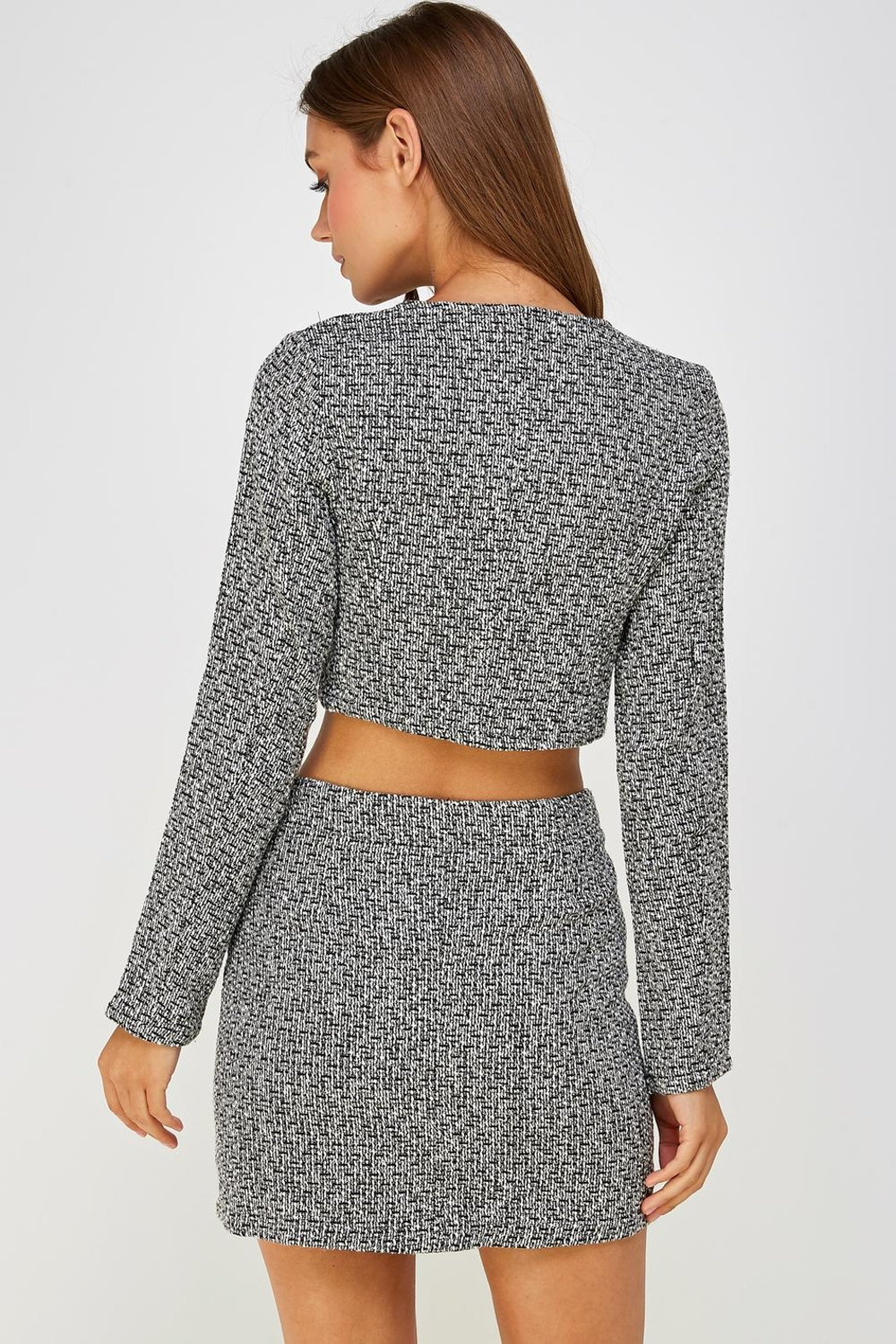 Wild Honey Tweed Skirt Set - Back Cropped Image