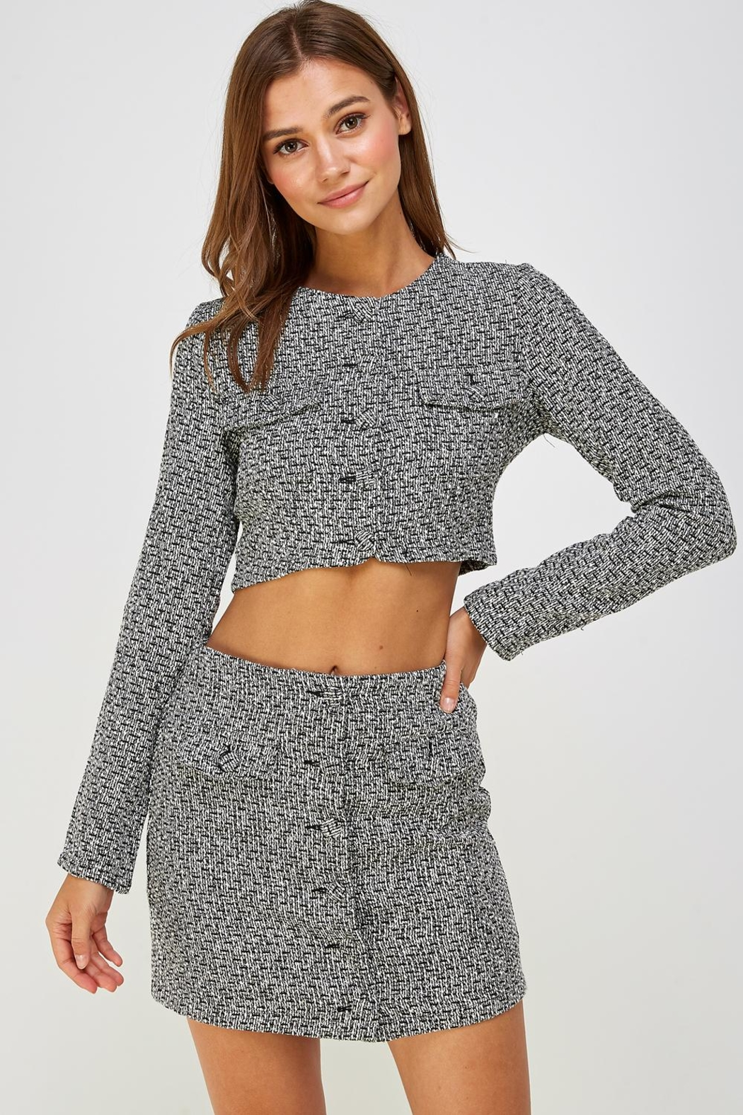 Wild Honey Tweed Skirt Set - Main Image