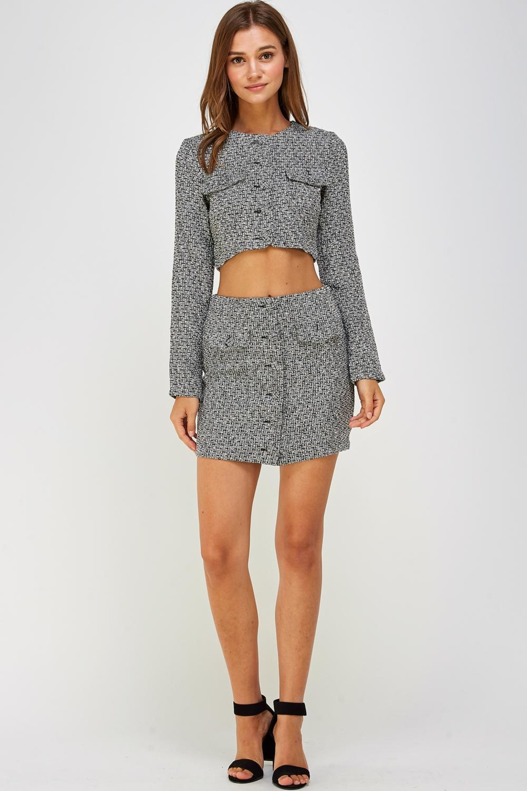 Wild Honey Tweed Skirt Set - Front Full Image