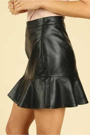Wild Honey Vegan Leather Skirt - Front full body