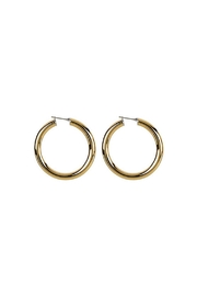 Wild Lilies Jewelry  14k Gold Hoops - Front full body