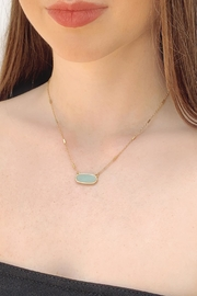 Wild Lilies Jewelry  Amazonite Pendant Necklace - Front cropped