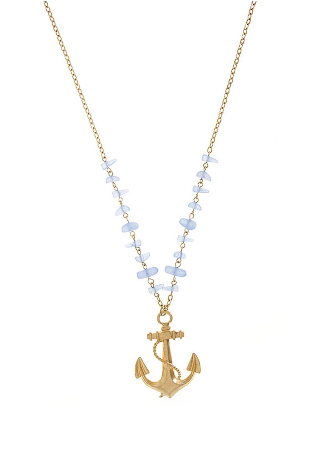 Wild Lilies Jewelry  Anchor Pendant Necklace - Front Cropped Image