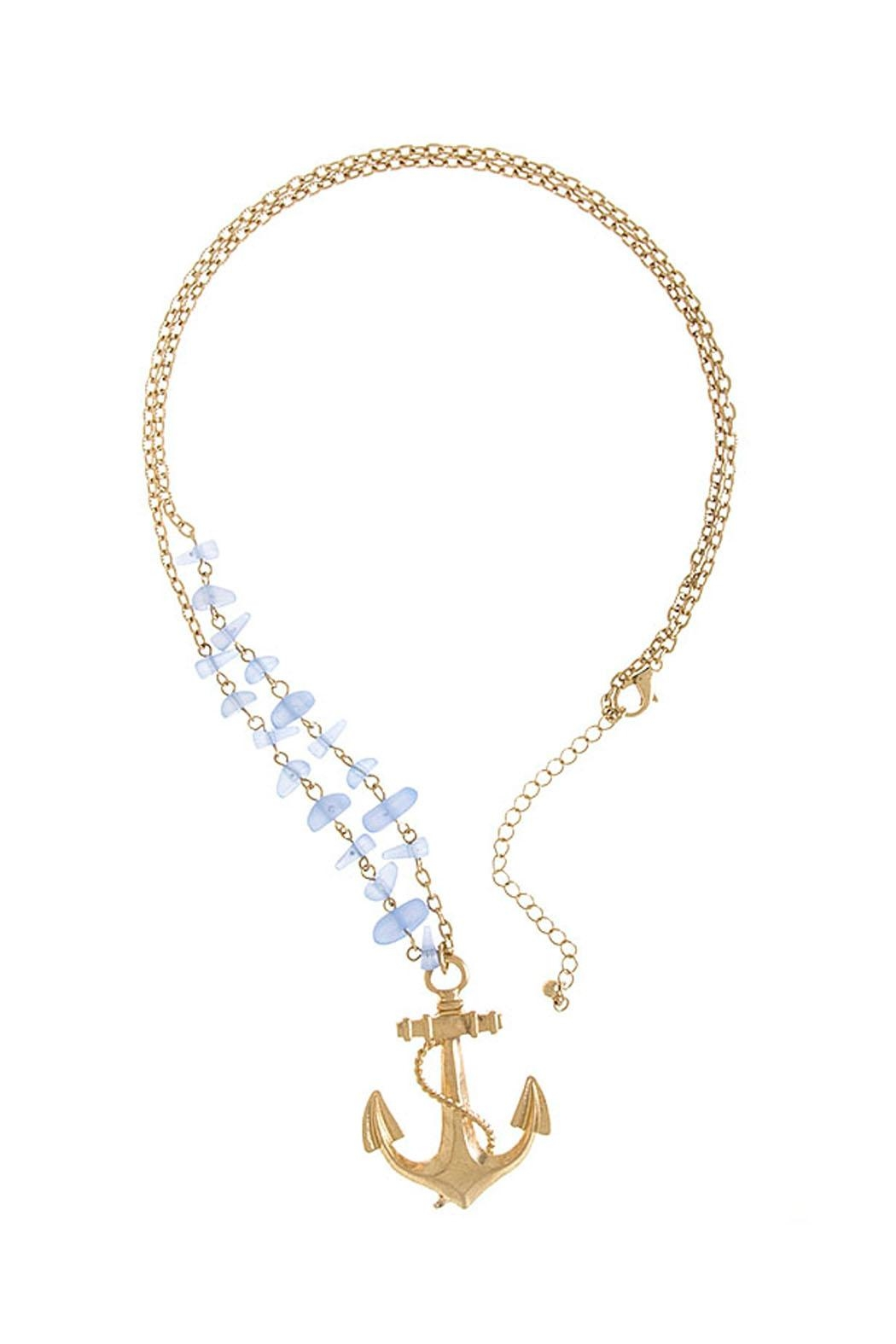 Wild Lilies Jewelry  Anchor Pendant Necklace - Front Full Image