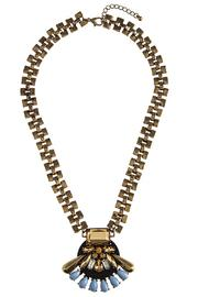 1930s Jewelry | Art Deco Style Jewelry Art Deco Necklace $48.00 AT vintagedancer.com