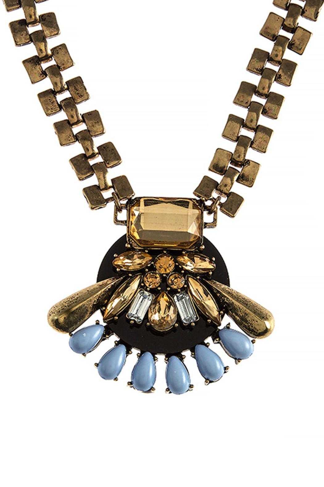Wild Lilies Jewelry  Art Deco Necklace - Front Full Image