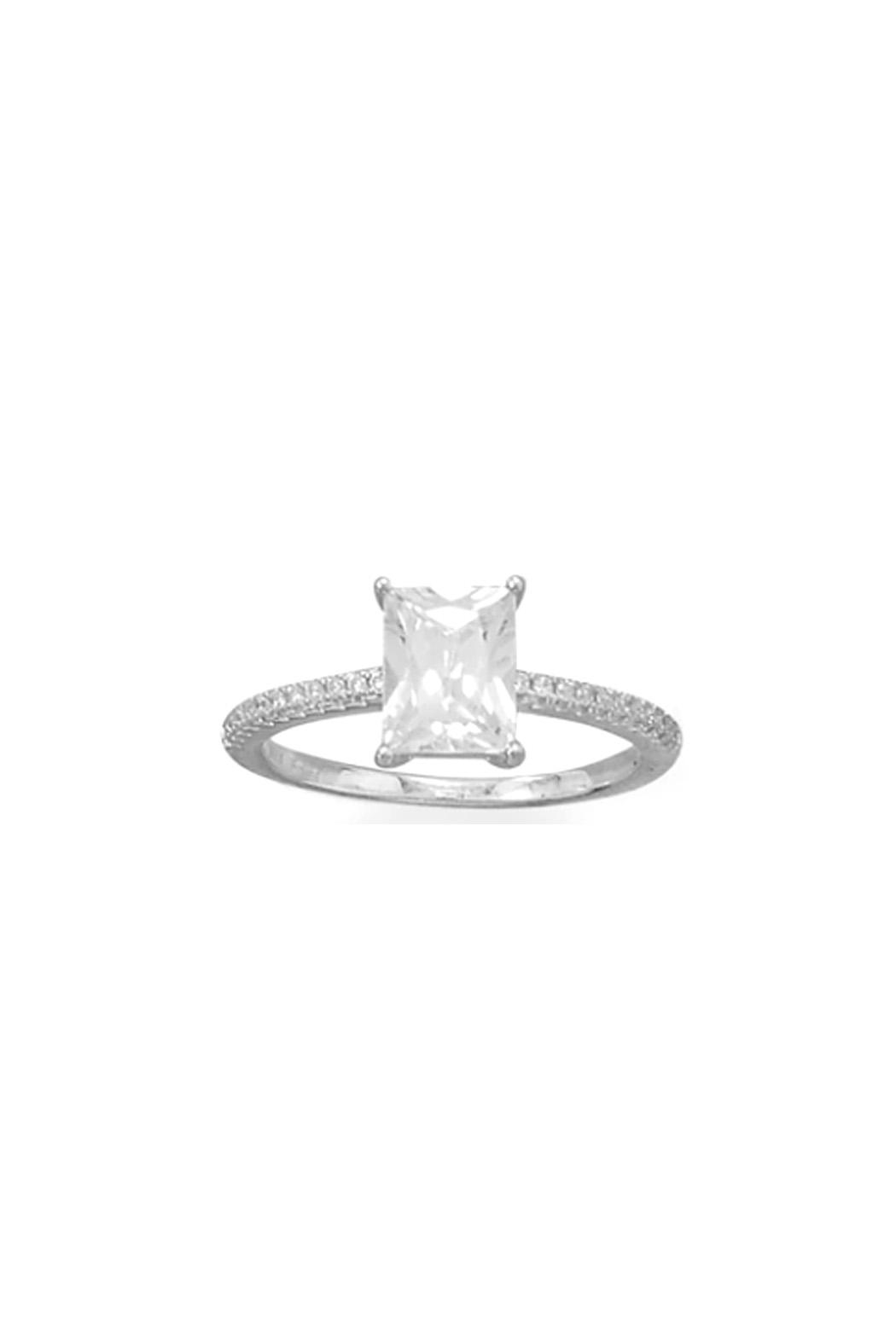Wild Lilies Jewelry  Baguette Cz Ring - Front Full Image
