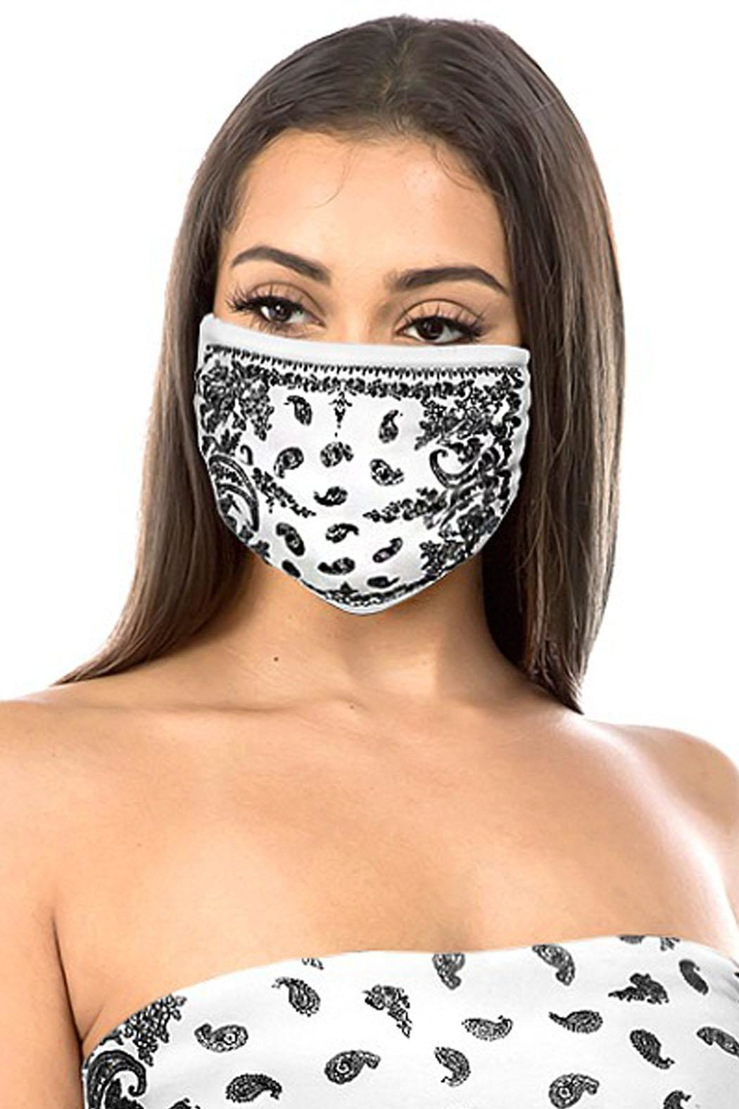 Wild Lilies Jewelry  Bandana Face Mask - Front Full Image