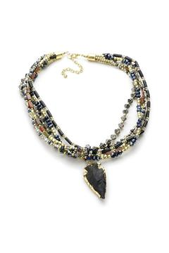 Shoptiques Product: Beaded Arrowhead Necklace