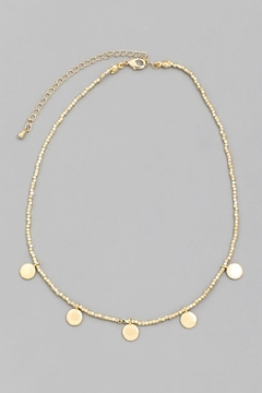 Wild Lilies Jewelry  Beaded Disc Necklace - Alternate List Image