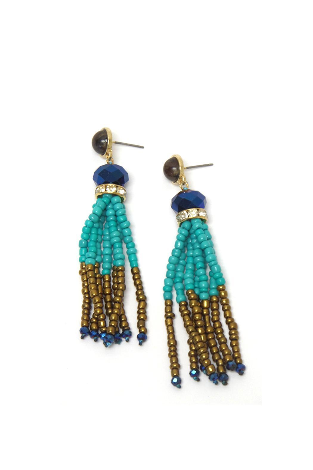 Wild Lilies Jewelry  Beaded Fringe Earrings - Main Image