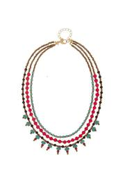 Wild Lilies Jewelry  Beaded Layered Necklace - Front cropped