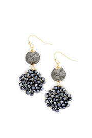 Wild Lilies Jewelry  Beaded Pom Earrings - Product Mini Image