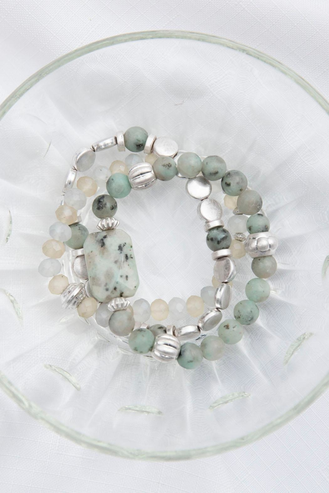 Wild Lilies Jewelry  Beaded Stackable Bracelet - Main Image