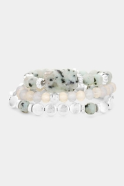 Wild Lilies Jewelry  Beaded Stackable Bracelet - Front full body