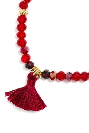 Wild Lilies Jewelry  Beaded Tassel Bracelet - Front full body