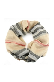 Wild Lilies Jewelry  Beige Infinity Scarf - Front cropped