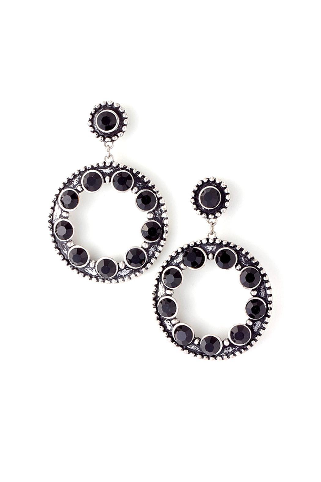 Wild Lilies Jewelry  Black Circle Earrings - Main Image