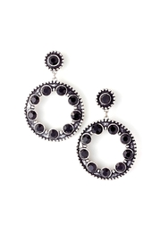 Wild Lilies Jewelry  Black Circle Earrings - Product Mini Image