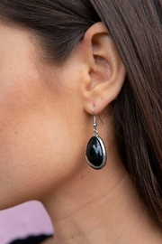 Wild Lilies Jewelry  Black Drop Earrings - Product Mini Image
