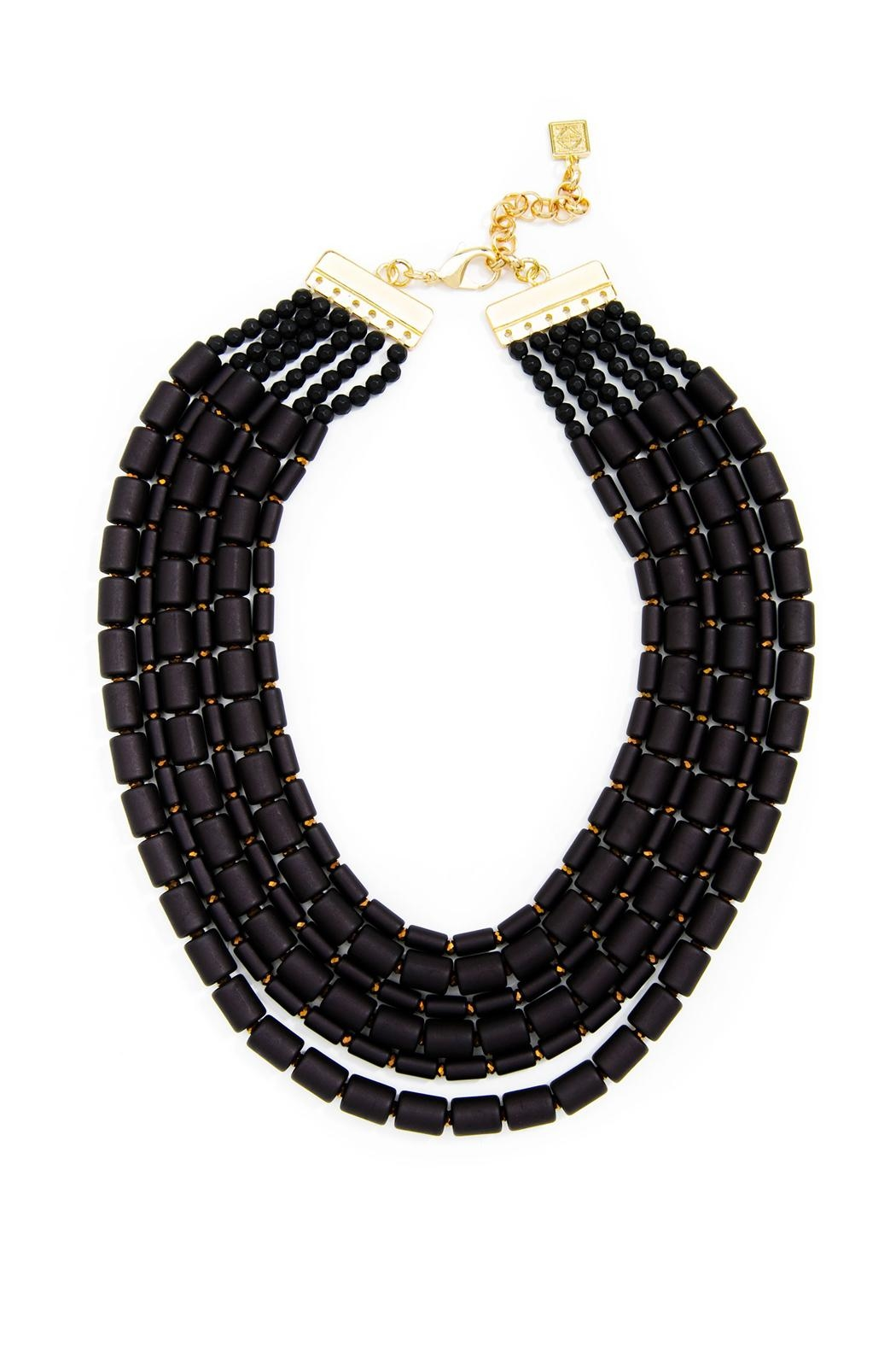 Wild Lilies Jewelry  Black Layered Necklace - Main Image