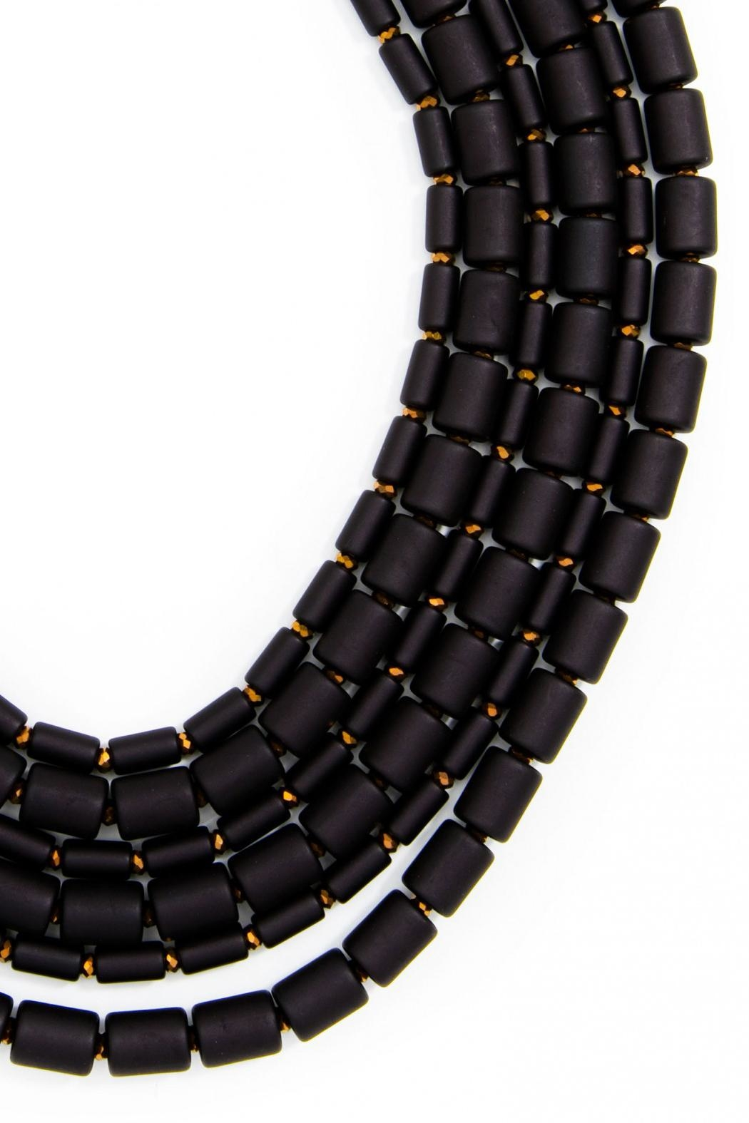 Wild Lilies Jewelry  Black Layered Necklace - Front Full Image