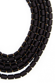Wild Lilies Jewelry  Black Layered Necklace - Front full body