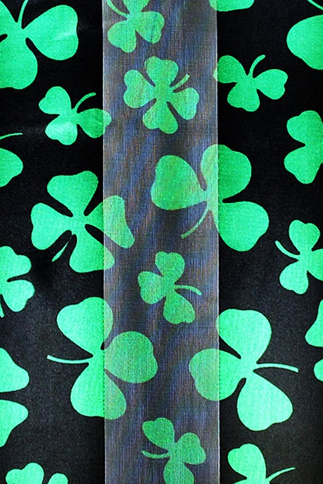 Wild Lilies Jewelry  Black Shamrock Scarf - Front Full Image