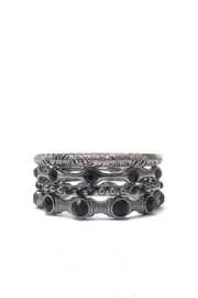 Wild Lilies Jewelry  Black Stone Bangles - Front cropped