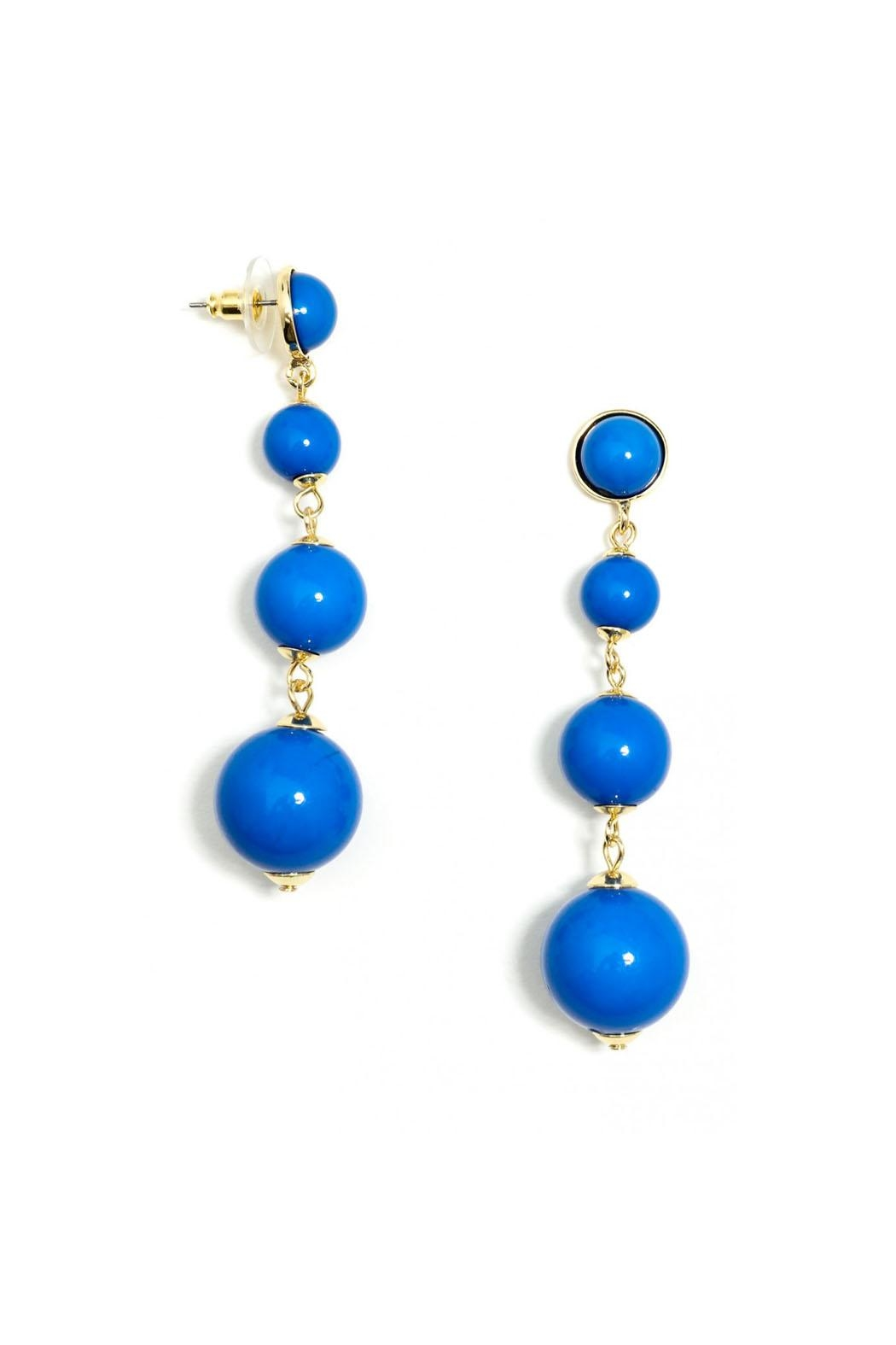 Wild Lilies Jewelry  Blue Ball Earrings - Front Full Image