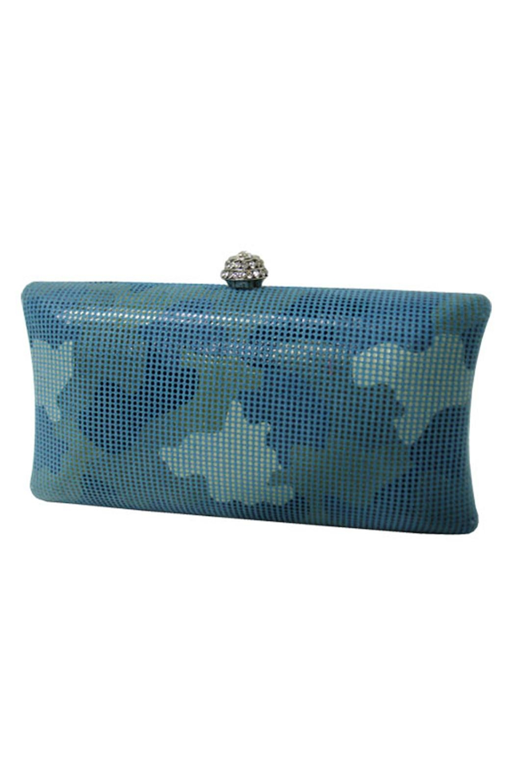 Wild Lilies Jewelry  Blue Camouflage Clutch - Main Image