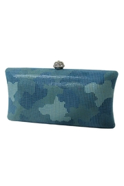 Wild Lilies Jewelry  Blue Camouflage Clutch - Front cropped