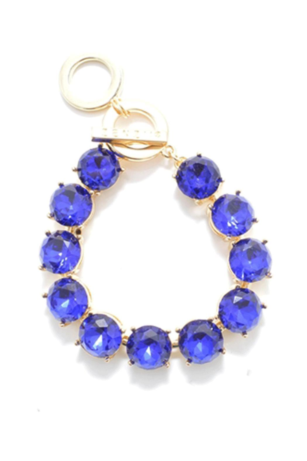 Wild Lilies Jewelry  Blue Crystal Bracelet - Front Cropped Image
