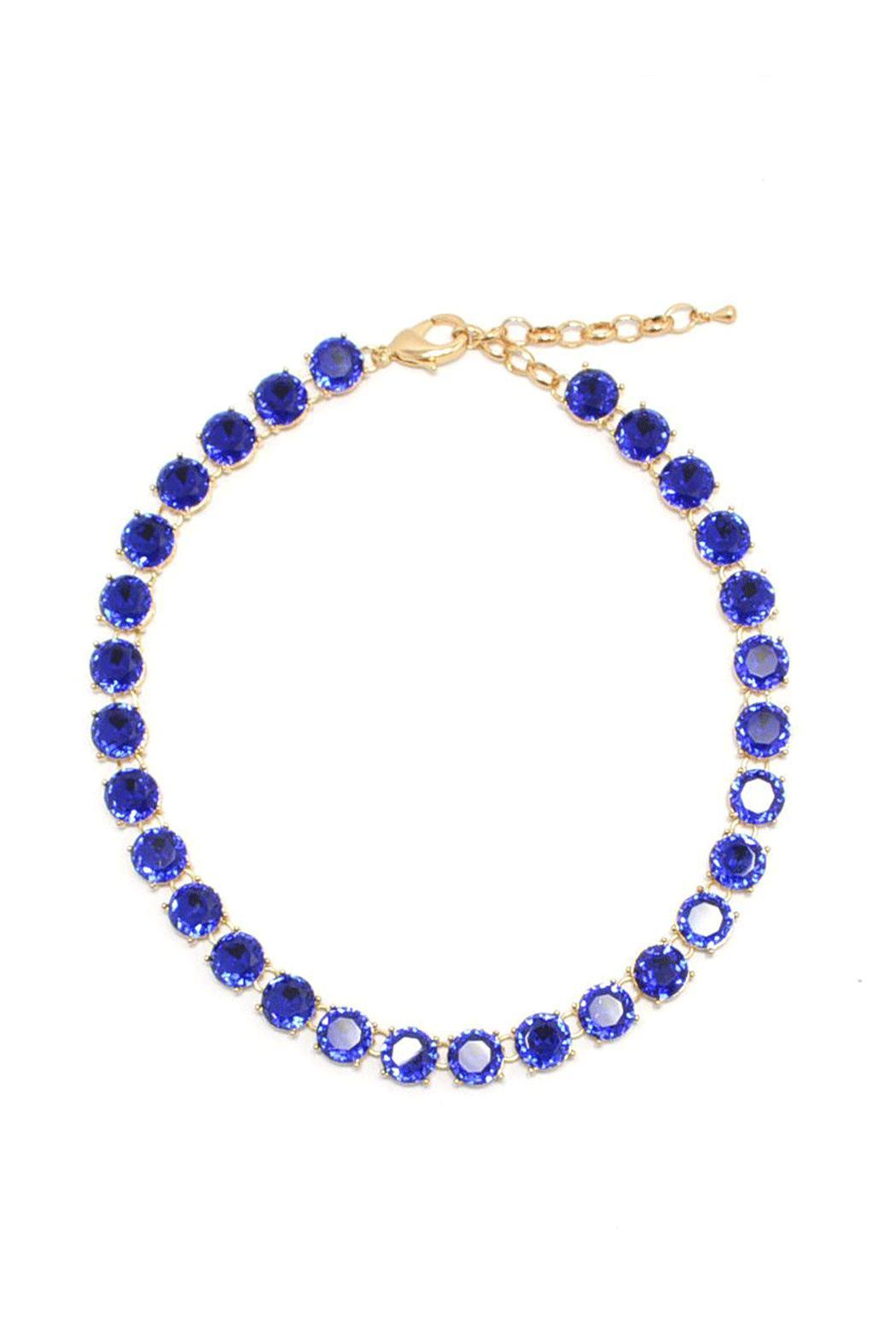 Wild Lilies Jewelry  Blue Crystal Necklace - Main Image