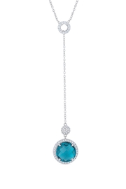 Wild Lilies Jewelry  Blue Cz Lariat Necklace - Product Mini Image