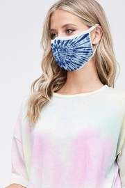 Wild Lilies Jewelry  Blue Face Mask - Front cropped