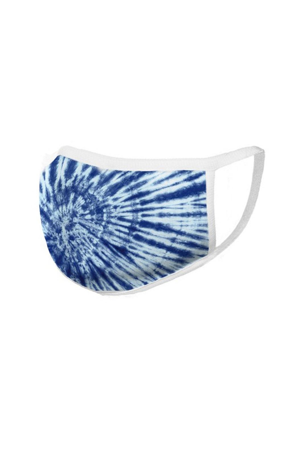 Wild Lilies Jewelry  Blue Face Mask - Back Cropped Image