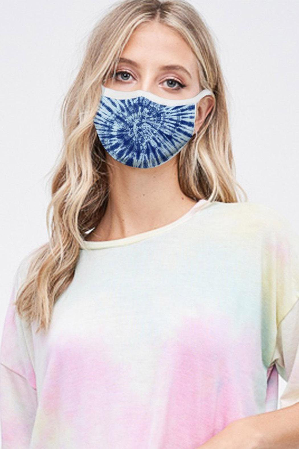 Wild Lilies Jewelry  Blue Face Mask - Front Full Image