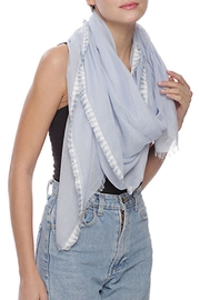 Wild Lilies Jewelry  Blue Fringe Scarf - Product Mini Image