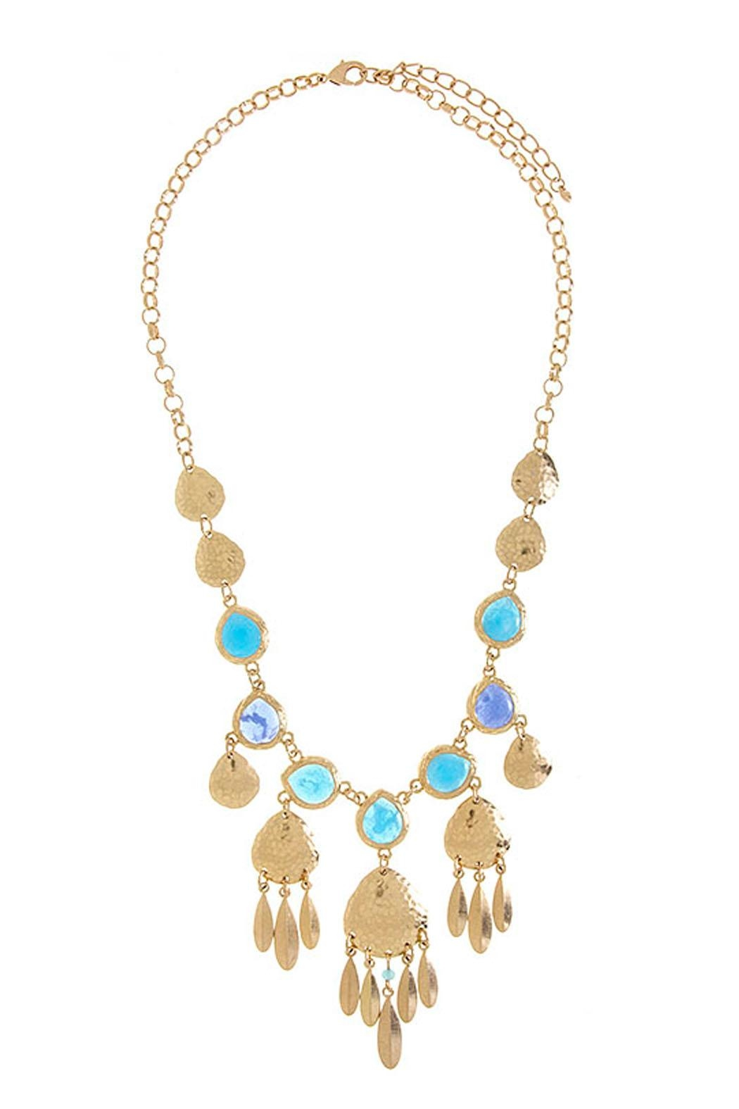 Wild Lilies Jewelry  Blue Statement Necklace - Main Image