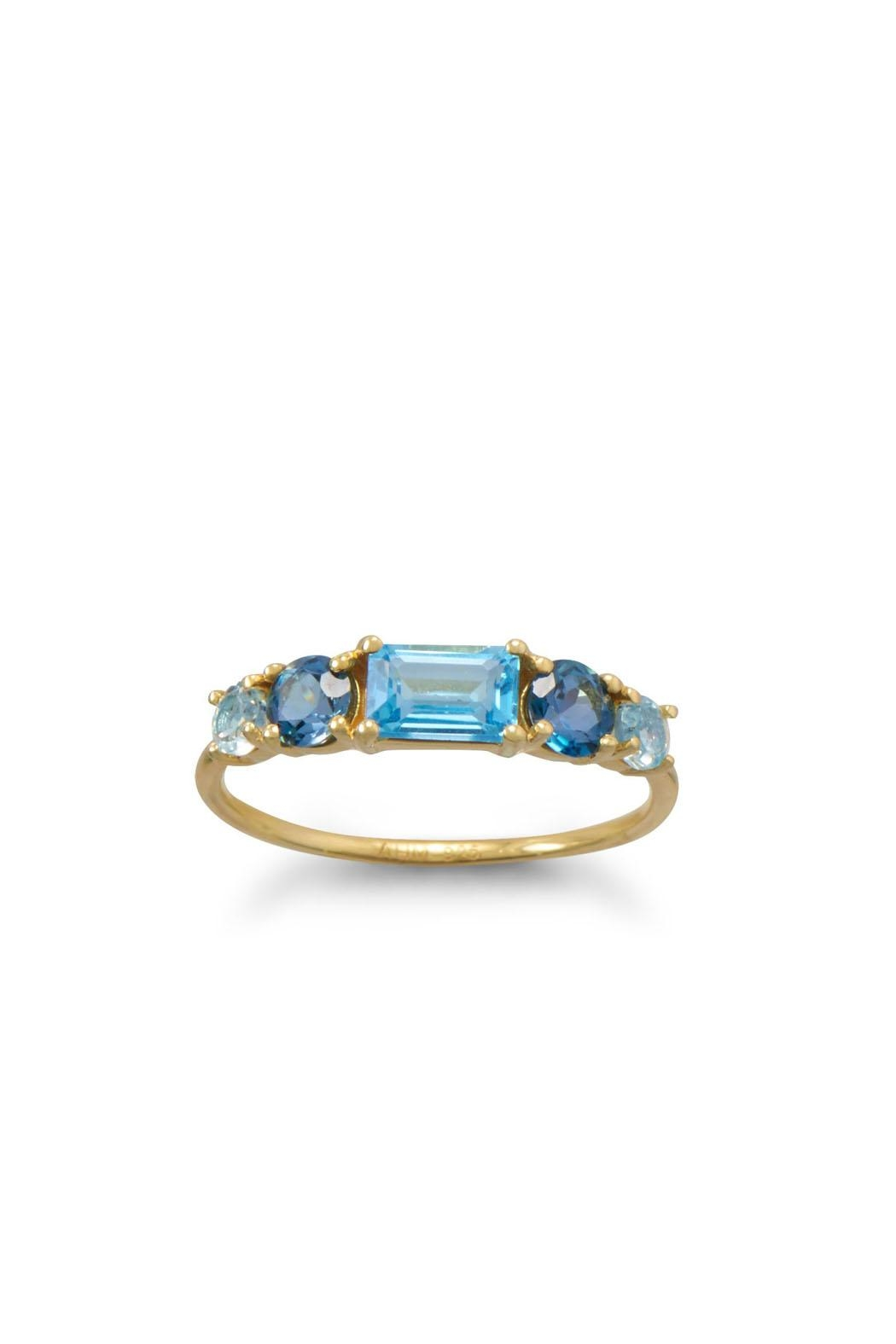 Wild Lilies Jewelry  Blue Topaz Ring - Front Full Image