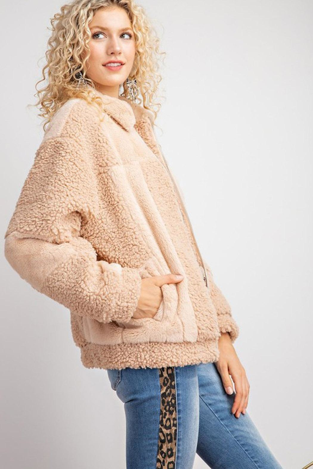 Wild Lilies Jewelry  Bomber Teddy Jacket - Side Cropped Image