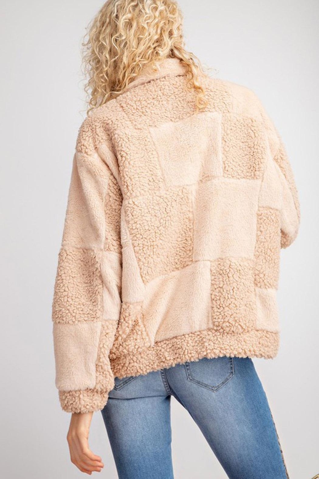 Wild Lilies Jewelry  Bomber Teddy Jacket - Front Full Image