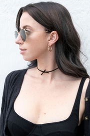 Wild Lilies Jewelry  Bow Choker Necklace - Front full body
