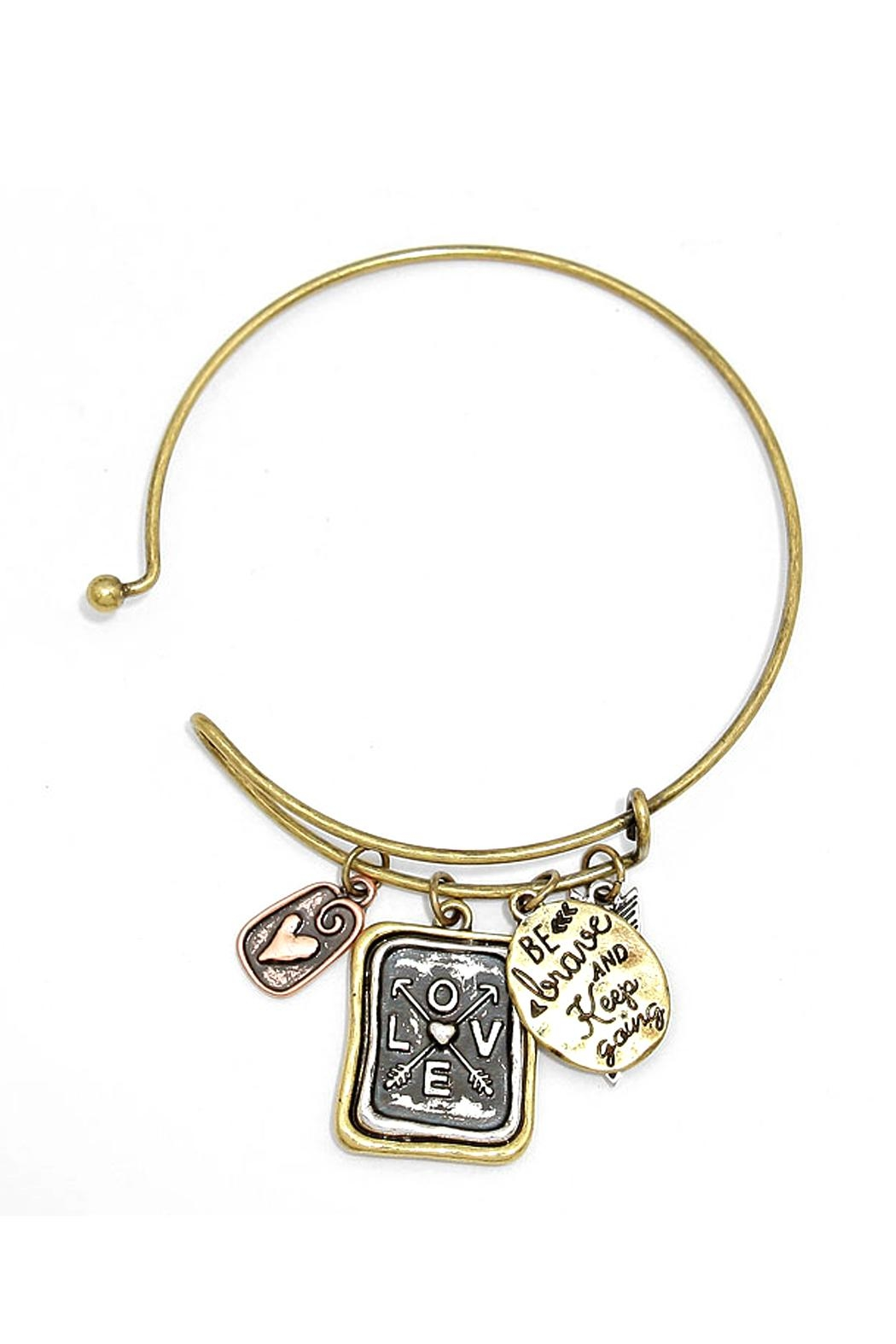 Wild Lilies Jewelry  Brave Charm Bracelet - Front Full Image