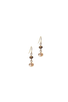 Shoptiques Product: Brown Bead Earrings