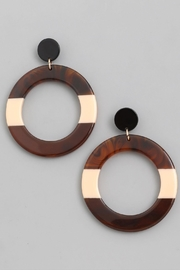 Wild Lilies Jewelry  Brown Hoop Earrings - Product Mini Image