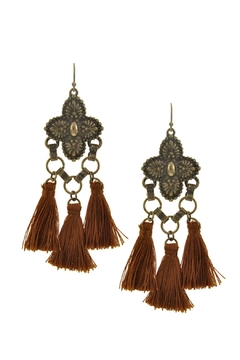 Wild Lilies Jewelry  Brown Tassel Earrings - Alternate List Image